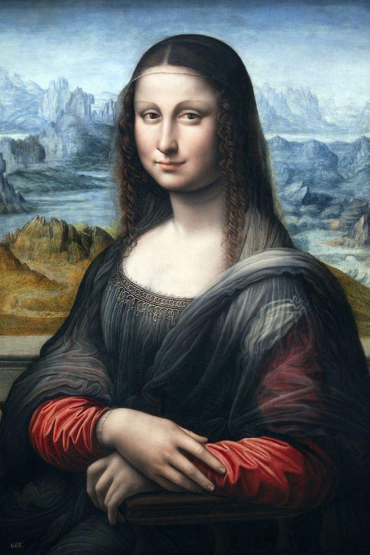 """""""Portrait of Lisa Gherardini del Giocondo,"""" also known as Mona Lisa, painted . 1503. Se sabe que está pintada en el mismo taller de Leonardo y posiblemente de su mano. Museo del Prado"""