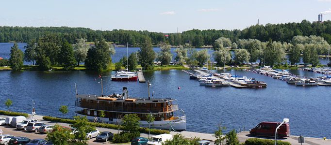 Beautiful Lappeenranta in eastern Finland, part of the great Lake District < Photo © Discovering Finland