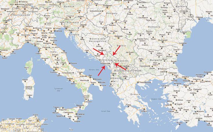 montenegro+map | Montenegro Map