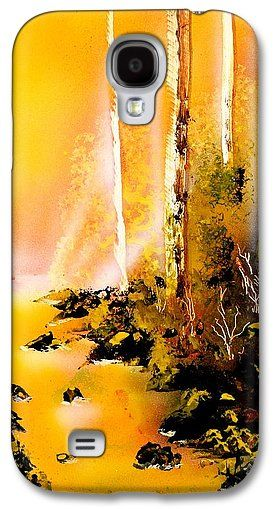 Yellow River Galaxy S4 Case Printed with Fine Art spray painting image Yellow River by Nandor Molnar (When you visit the Shop, change the orientation, background color and image size as you wish)