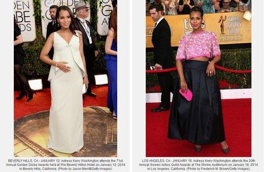 'Scandal' Actress Kerry Washington bares her baby bump, in Prada, at SAG Awards   http://www.examiner.com/article/scandal-actress-kerry-washington-bares-her-baby-bump-prada-at-sag-awards