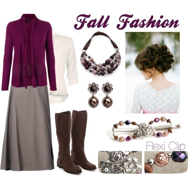 Plum-Brown with Flexi Clip