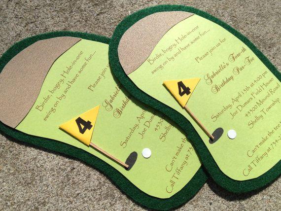 7 best GOLF INVITATIONS images – Golf Themed Birthday Invitations