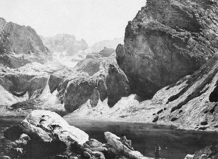 Czarny Staw pod Kościelcem w Tatrach - Wojciech Gerson 1888