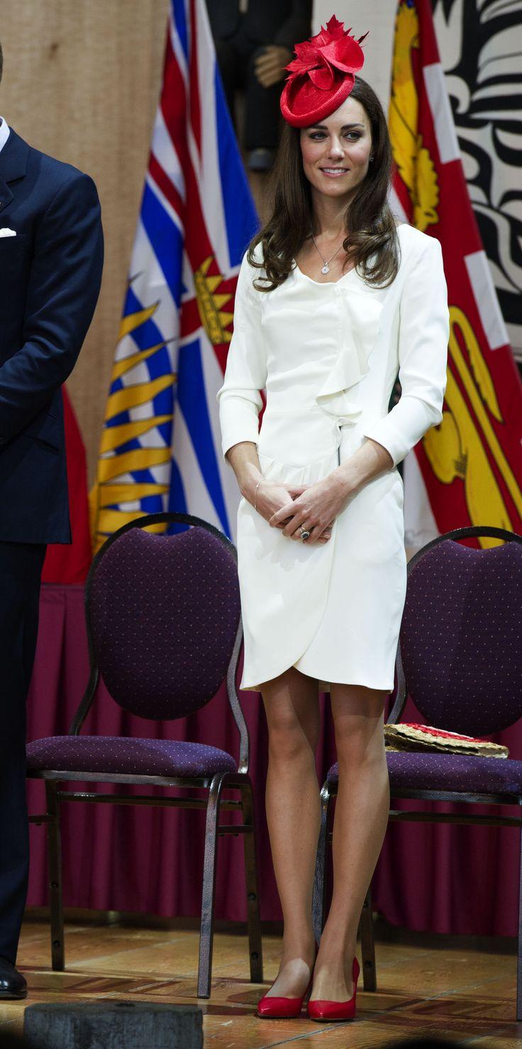 Kate Reis White Dress Tour Of Canada 1 July 2011
