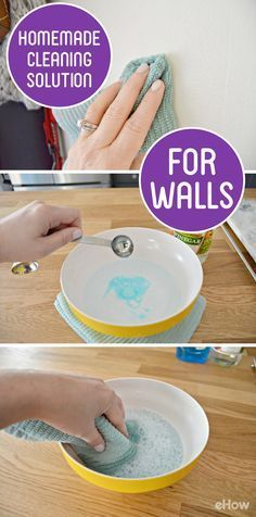 Walls can take a real beating. Between fingerprints, scuff marks and food splatters, they can get pretty dirty. Scrubbing isn't necessarily great for walls because it can remove paint, but using a homemade cleaning solution for walls will help remove dirt, fingerprints and food splatters with ease. http://www.ehow.com/way_5180354_homemade-cleaning-solution-walls.html?utm_source=pinterest.com&utm_medium=referral&utm_content=freestyle&utm_campaign=fanpage