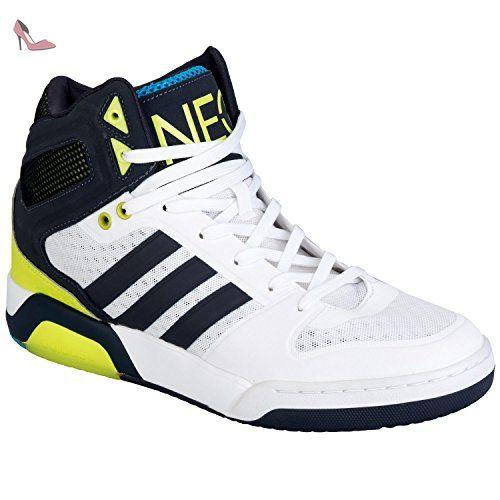 adidas NEO Baskets hautes BB9tis pour homme Blanc noir - Chaussures adidas (*Partner-Link)