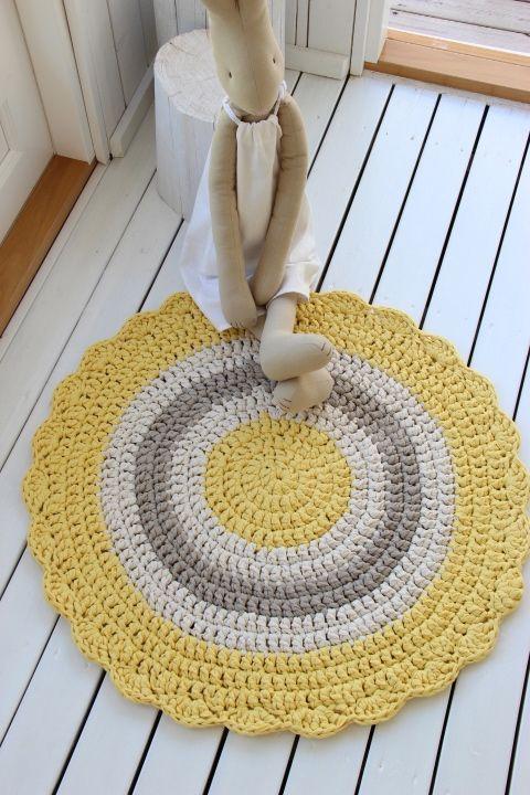 Alfombra redonda crochet