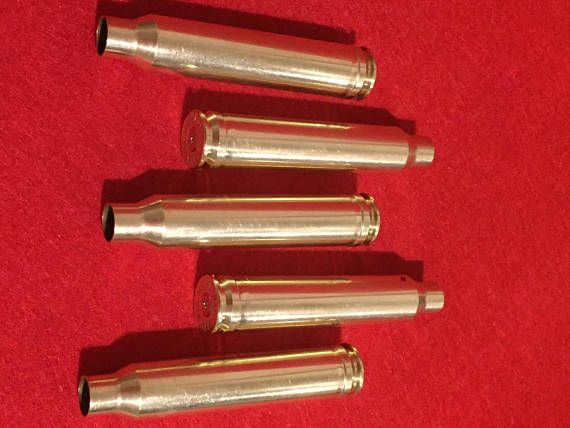 Empty Ammo Spent Brass Bullet Casings Shells Cleaned Tumbled Hand Polished 300 WIN MAG Bullet Jewelry Steampunk Bullet Necklace Crafting