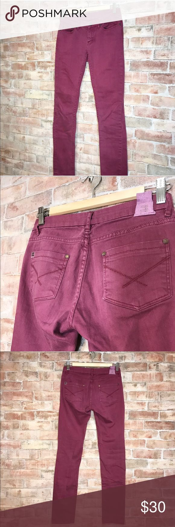 UO INSIGHT Maroon Skinny Jeans Urban Outfitters Insight skinny jeans in a maroon plum color. Worn a couple of times; don't fit anymore. Excellent condition. Urban Outfitters Jeans Skinny