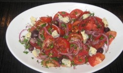 his Tomato and Roquefort salad is a twist on a traditional Turkish salad recipe. What makes this healthy salad special is the quality of the tomatoes.