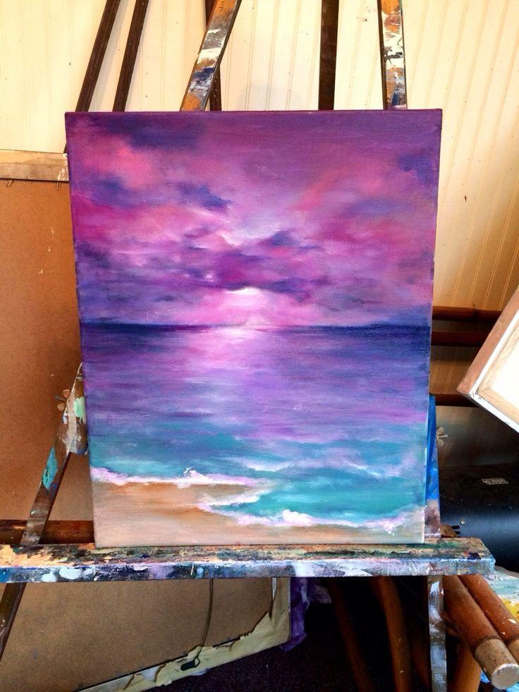 Ich habe das heute für das Bad meiner Töchter gemalt, dachte, die Farben sahen ordentlich aus …, #dachte #farben #gemalt #heute #meiner