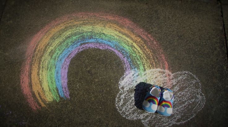 Our rainbow pregnancy announcement
