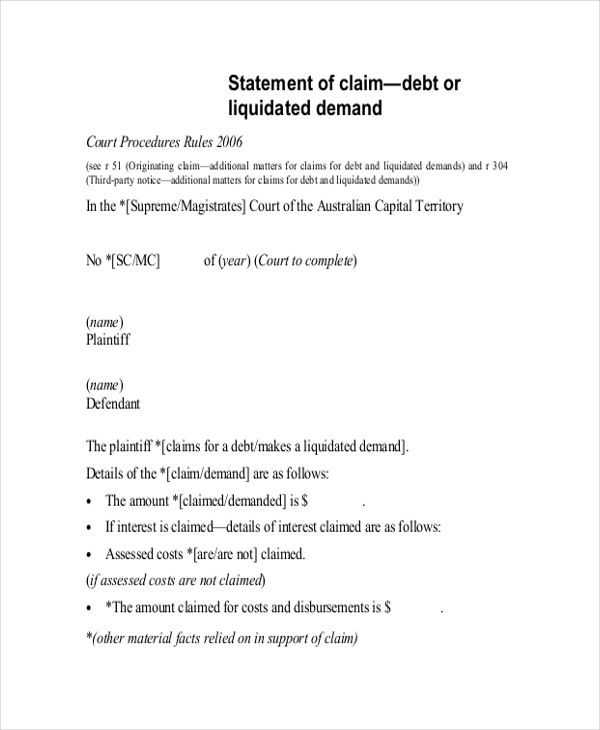 sample statement of claim in ghana - - Yahoo Image Search Results