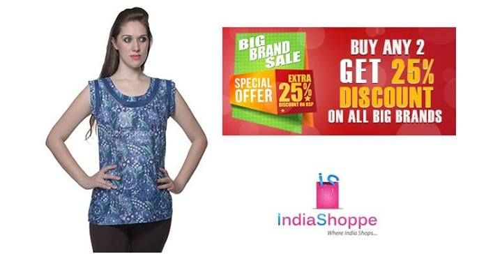 """Revel in the classy look along with cozy & comfortable feel of soft cotton top from famous brand """"W"""" which mirrors the new age Indian woman. http://goo.gl/5jJMb7"""