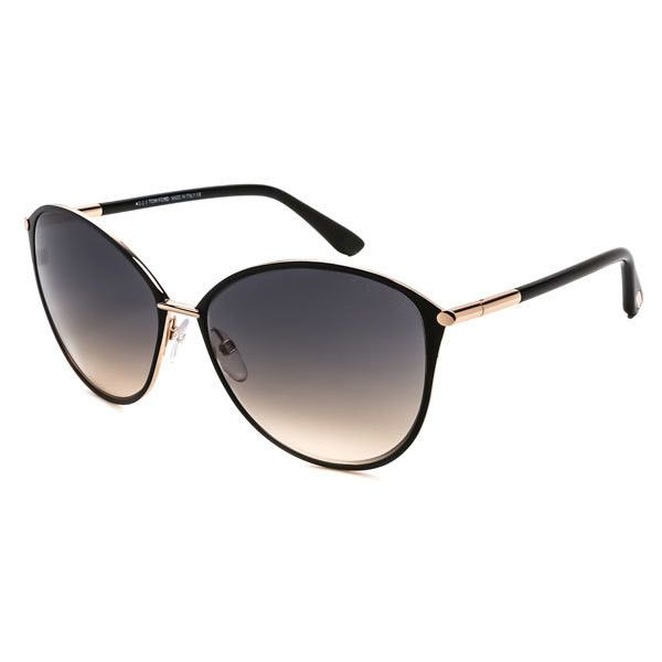 Tom Ford FT0320 PENELOPE 28B Sunglasses ($260) ❤ liked on Polyvore featuring accessories, eyewear, sunglasses, shiny rose gold black, rose sunglasses, rose lens sunglasses, tom ford sunglasses, tom ford eyewear and metal frame glasses