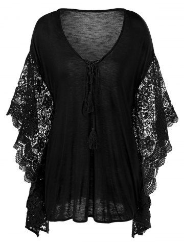 GET $50 NOW   Join RoseGal: Get YOUR $50 NOW!http://www.rosegal.com/plus-size-blouses/plus-size-butterfly-sleeve-crochet-1071428.html?seid=8289245rg1071428