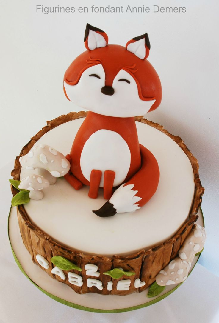 cake figurine fox gâteau renard https://www.facebook.com/figurinesanniedemers