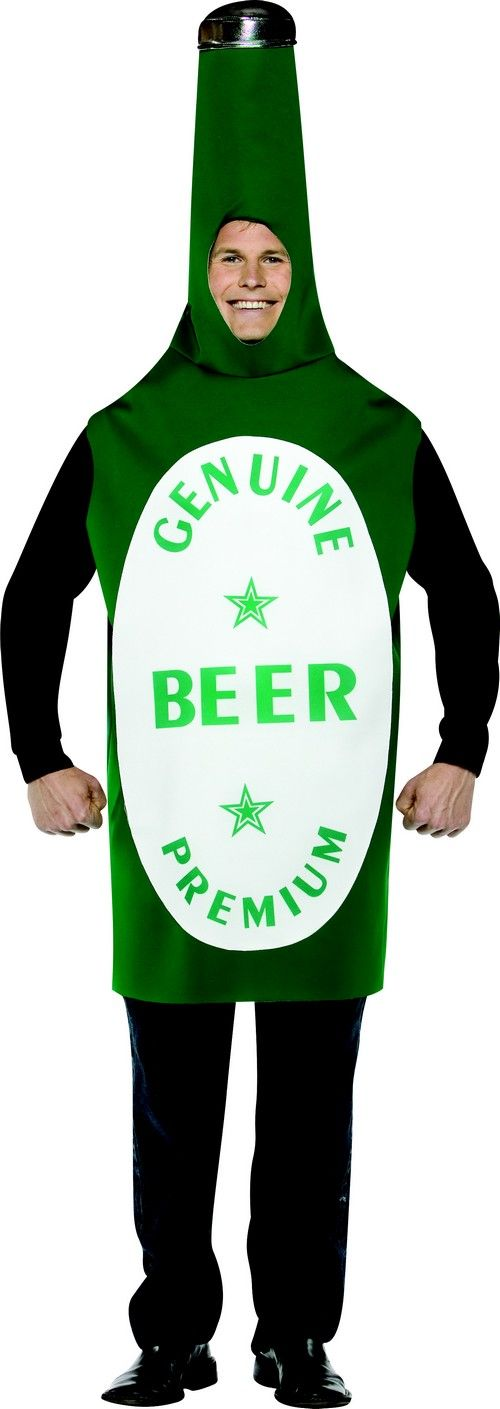 El disfraz botella de cerveza es perfecto para Carnaval.