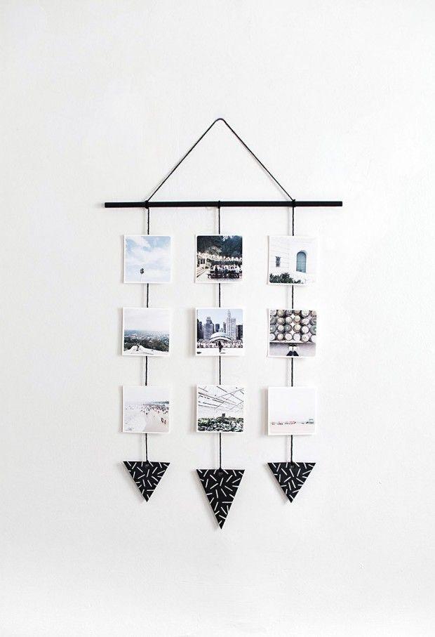Photo wall hanging DIY