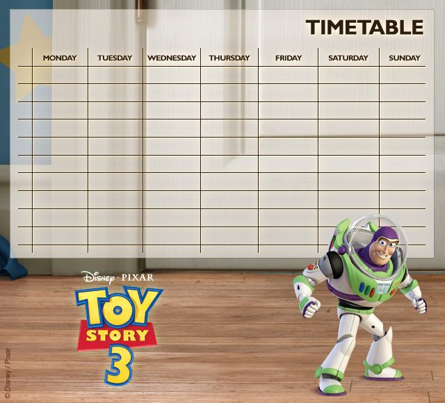 Toy Story Timetables 02