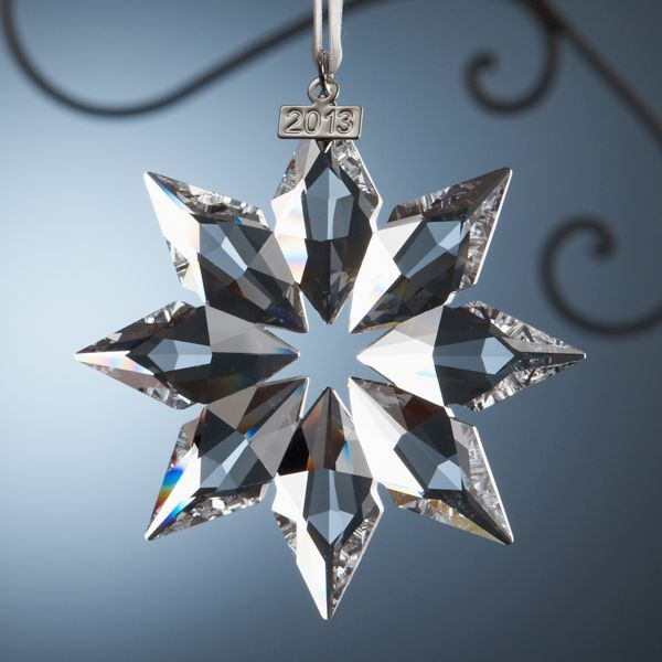 2013 Swarovski Snowflake Ornament for Lenox--would love to start a collection of these to hang in each of my windows -- beautiful!