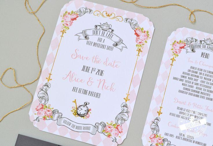 Hochzeitsmenü Alice im Wunderland - Teeparty - als Hochzeitsthema - feenstaub.at