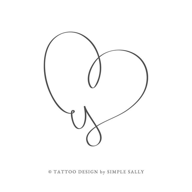 Tattoo Herz Buchstabe Smalltattoo Heart Letter 15