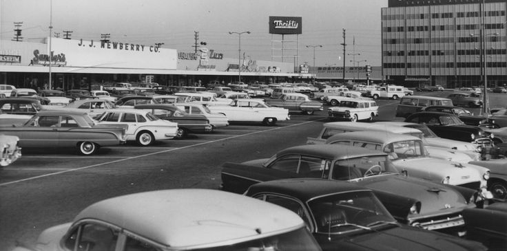 Northeast corner of Crenshaw Boulevard and Imperial Highway, Inglewood, California, 1962.