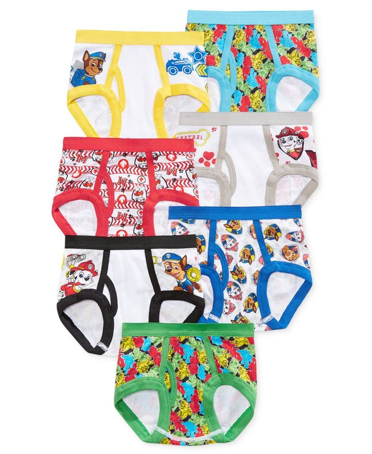 Handcraft 7-Pk. Paw Patrol Briefs, Toddler Boys (2T-4T)