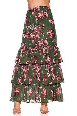 bd10b3ff56 Floral tiered maxi skirt from Boston Proper