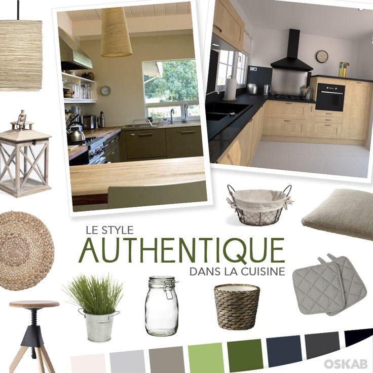 Découvrez notre planche de tendance sur le style authentique pour recréer dans votre cuisine une ambiance pleine de charme. #cuisine #authentique www.oskab.com