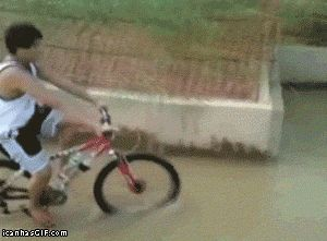 Just going to park my bike over here…