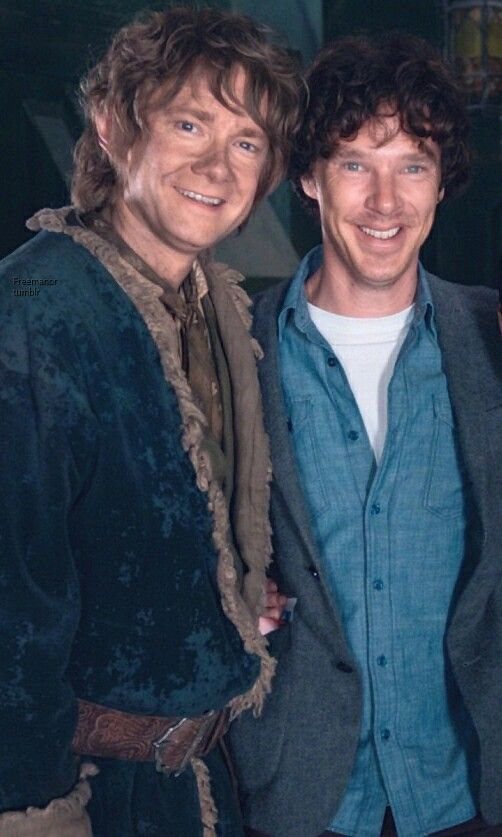 Ben and Martin on The Hobbit set