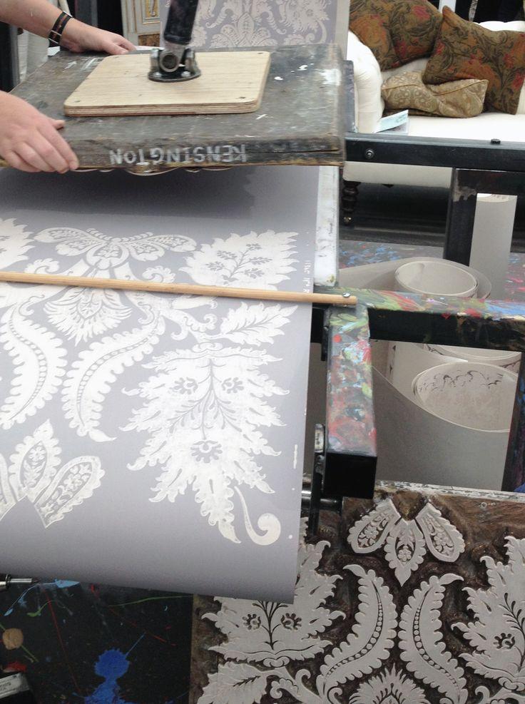 #Decorex 2014 Amazing installation of hand block printed wallpaper