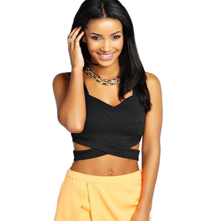 Charlee Cooper Sleeveless Slim Fitting Crop Top