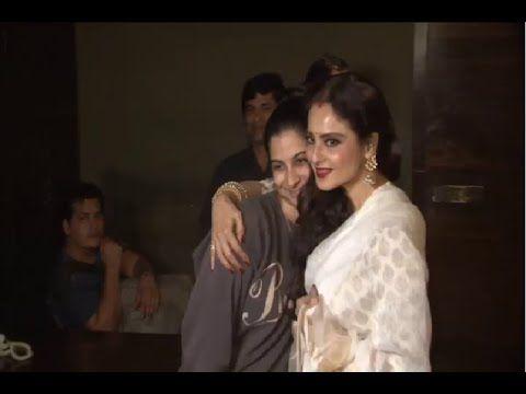 Rekha at the special screening of Sonam Kapoor's movie KHOOBSURAT.
