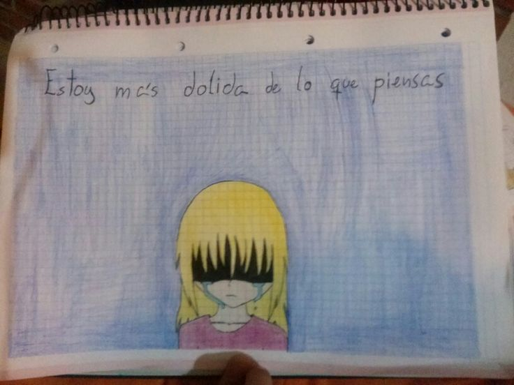 """I'm having a hard time, and I like express my feelings drawing, so... The letter means """"I'm more broken than you think"""". I falled out with muy friends and I don't know what to do, because they hurted me a lot, but I don't want to stay annoyed with them... Well, the point is the drawing. How is it?"""