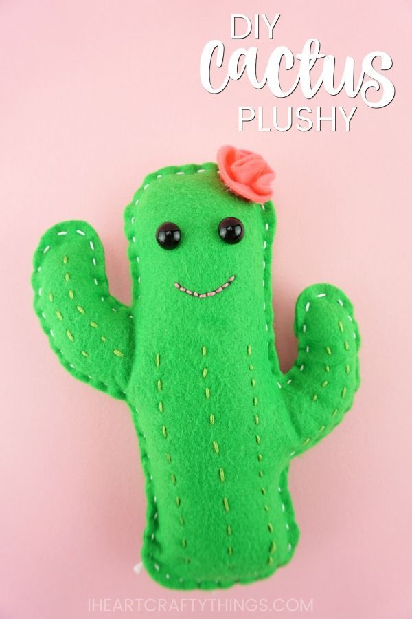How To Make A Diy Cactus Plushy Creative Stuff For Kids Sewing
