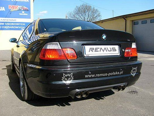 REALIZACJA: BMW E46 M3 CSL  Pragniemy przedstawić jedyne w swoim rodzaju, niesamowicie ekskluzywne BMW M3 CSL! W aucie zamontowaliśmy wydech wraz z końcówkami REMUS INNOVATION, dzięki czemu BMW pochwalić się może niezwykłym, sportowym brzmieniem.  Praca z tak kultowymi samochodami to wyzwanie, ale i czysta przyjemność!  Remus Polska http://www.remus-polska.pl/