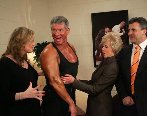 The McMahon Family Stephanie, Vince, Linda and Shane
