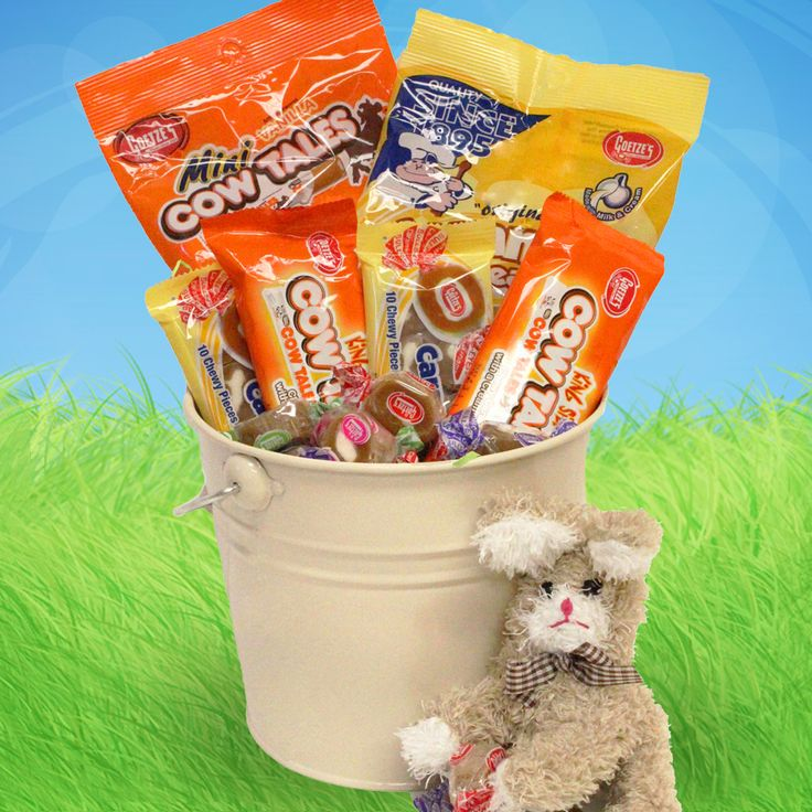 68 best easter baskets images on pinterest easter baskets cow goetzes candy easter bucket filled with caramel creams and cow tales made in maryland negle Image collections
