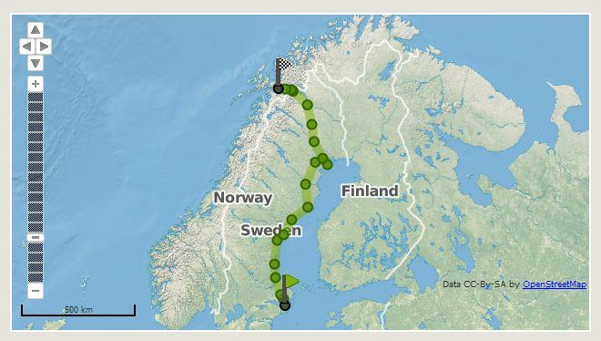 From Stockholm to Narvik Norway by night train with InterRail!