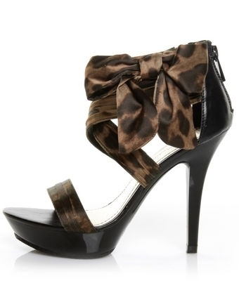 Anne Michelle Clubbin 81 Nat Leopard Satin Show-Bow-tin Pumps - $ - StyleSays