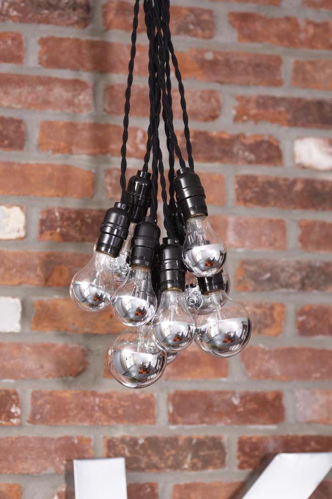 designer lampe mit gl hbirnen zum nachmachen pinterest
