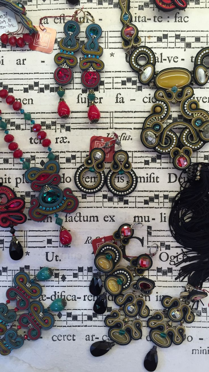 The sweet sounds and colors of harmony! #DoriCsengeri #color #accessories #designer #maker #earrings #statement