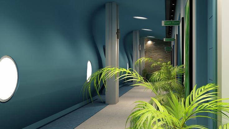 creative corridor design with Vinyl flooring