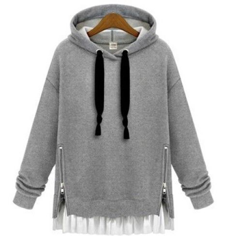 Casual hoodie layered style for Women street style. Fashion 2015