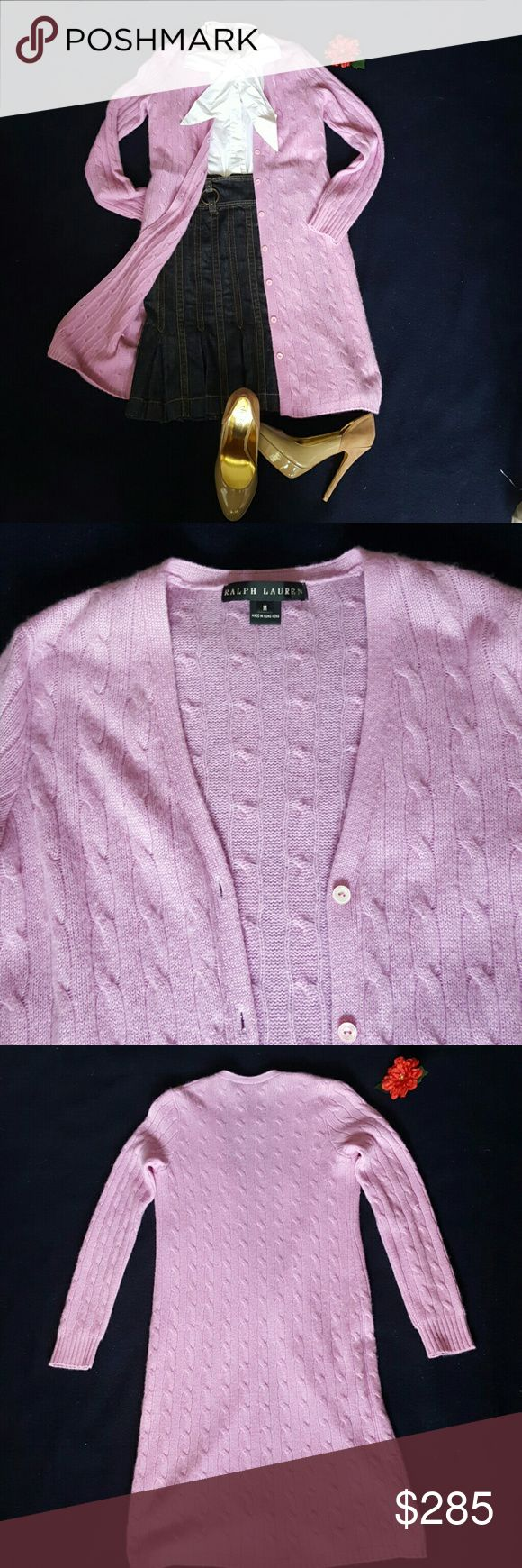 RALPH LAUREN BLACK LABEL Cashmere Sweater RALPH LAUREN BLACK LABEL 100% Cashmere sweater. Magenta to brighten all neutrals. Super soft and comfortable.  Take it to air conditioned office or glam evening.  Gently worn. Excellent condition. Ralph Lauren Black Label Sweaters
