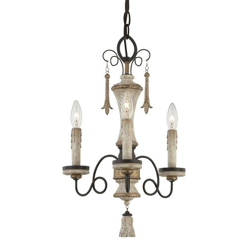 We got lites accents provence collection 3 light 20 provence patina mini chandelier